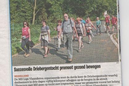 3-bergentocht in Nieuwsblad