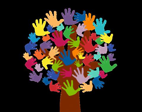 boom met helpende handen